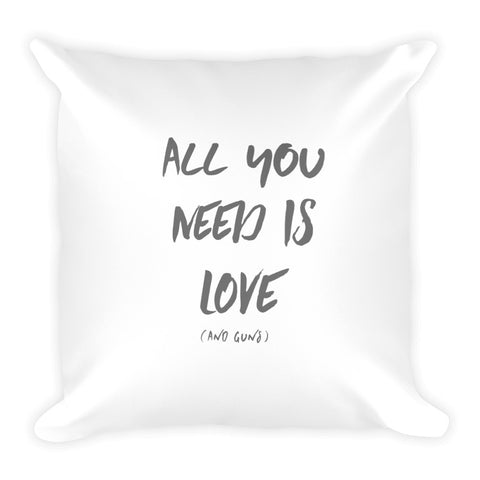 All You Need Is Love (and guns) Dry Fire Pillow, Silhouette Target
