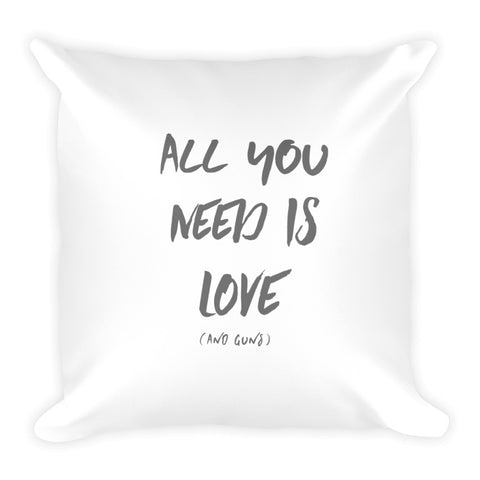 All You Need Is Love (and guns) Dry Fire Pillow, IDPA Style Target