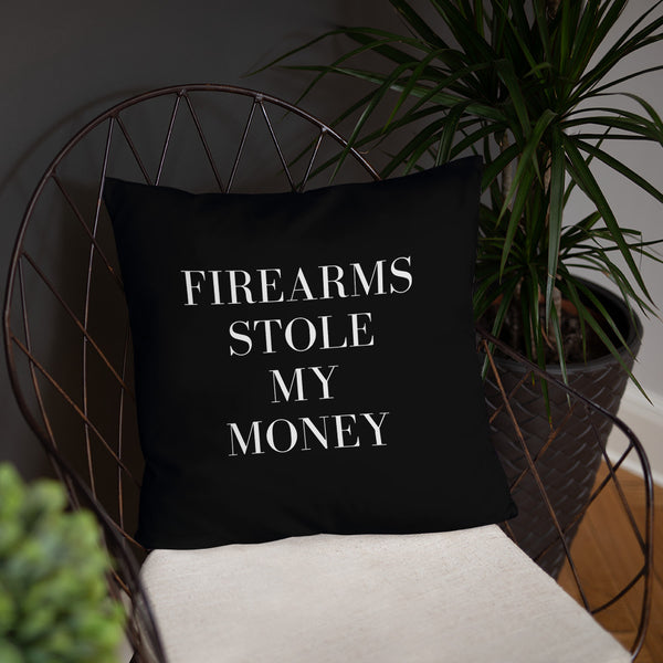 Firearms Stole My Money Dry Fire Pillow, GSSF Style Target
