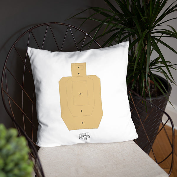 Black Floral Dry Fire Pillow, USPSA Style Target
