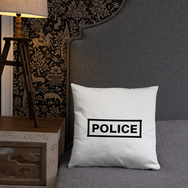Police Label Dry Fire Pillow, Pink Silhouette Target