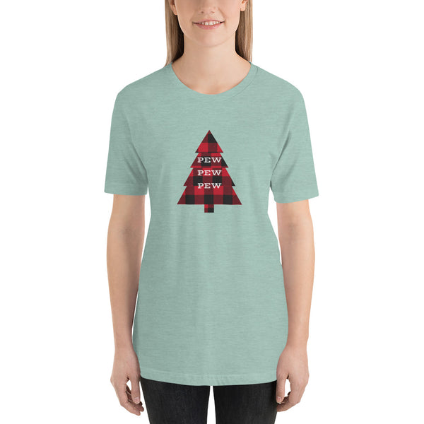 Pew Pew Pew Flannel, Women's T-Shirt
