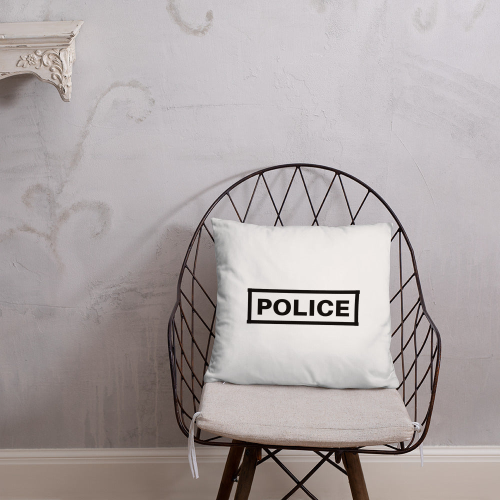 Police Label Dry Fire Pillow, Black Silhouette Target