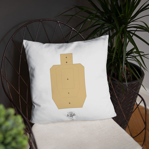 A True Hero Dry Fire Pillow, USPSA Style Target