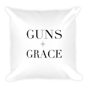 Guns + Grace Dry Fire Pillow, Silhouette Target