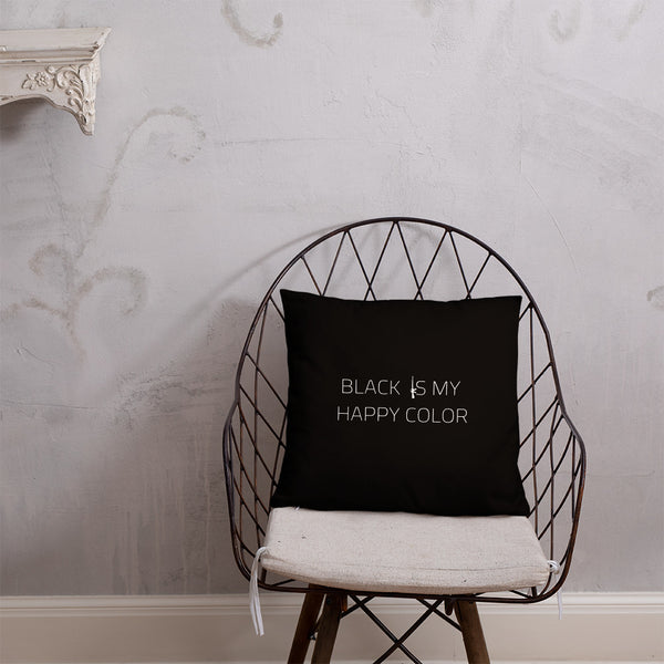 Black Is My Happy Color Dry Fire Pillow, Black Silhouette Target