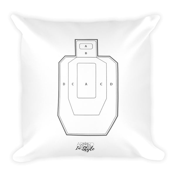 Spring Wreath Dry Fire Pillow, USPSA Style Target