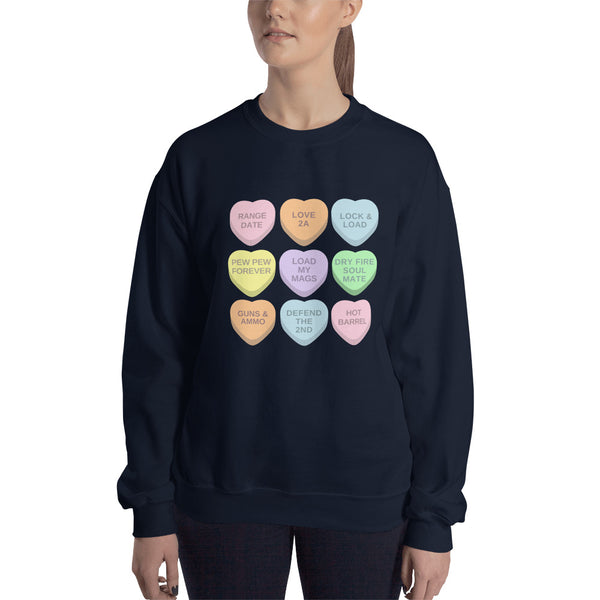 2A Candy Hearts, Women's Sweatshirt