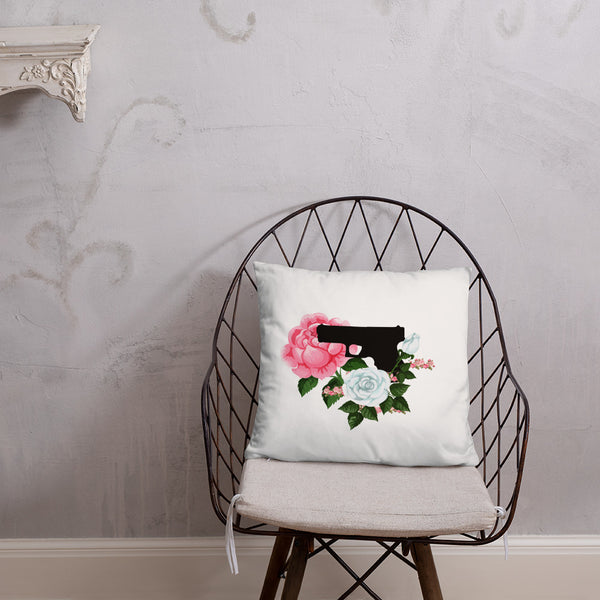Pistol and Petals Dry Fire Pillow