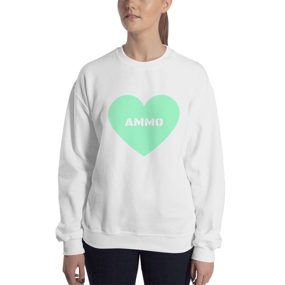 Ammo Love in Mint Sweatshirt