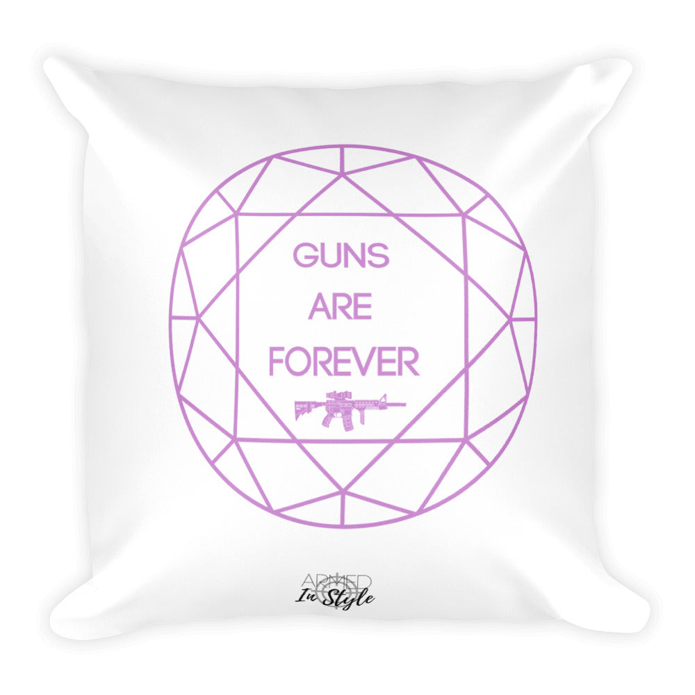 Guns are Forever in Purple Dry Fire Pillow, IDPA Style Target