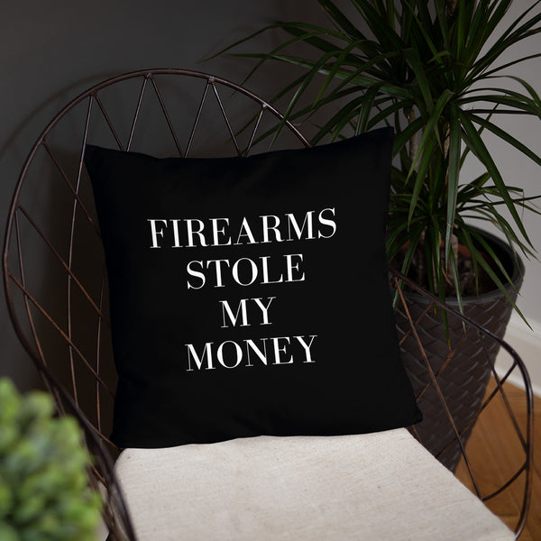 Firearms Stole My Money Dry Fire Pillow, USPSA Style Target