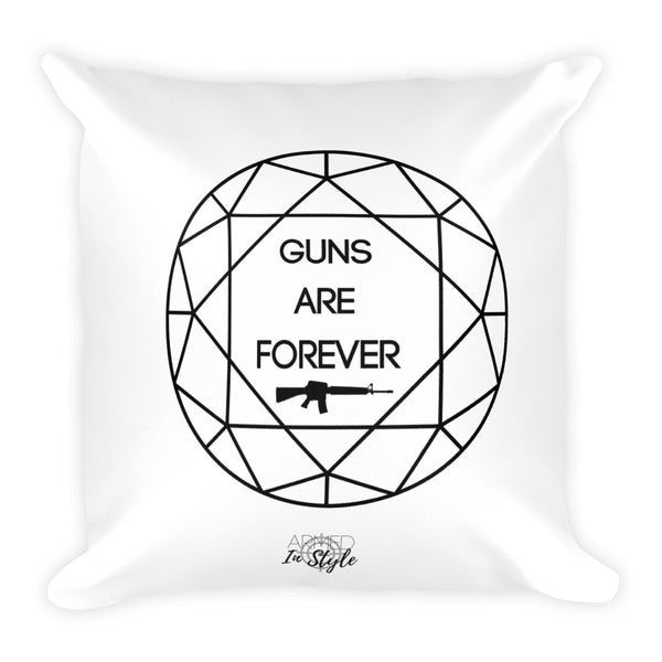 Guns are Forever in Black Dry Fire Pillow, Black Silhouette Target