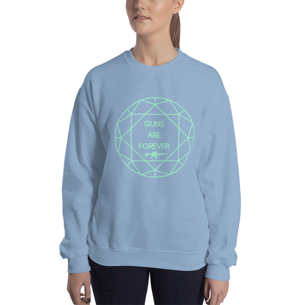 Guns are Forever in Mint Sweatshirt
