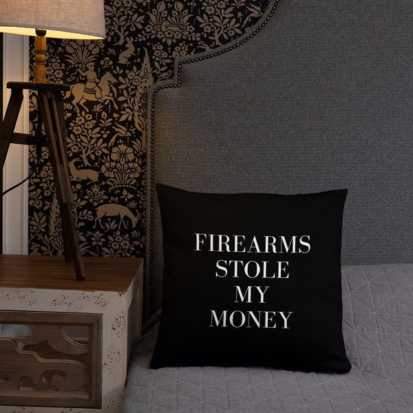 Firearms Stole My Money Dry Fire Pillow, IDPA Style Target