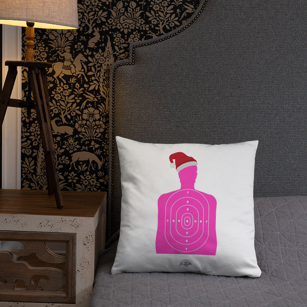 Peace Boxwood Wreath Dry Fire Pillow, Pink Silhouette Target