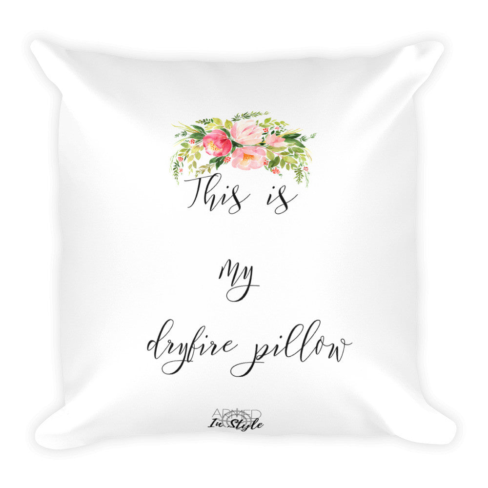 Floral Dry Fire Pillow, pink silhouette