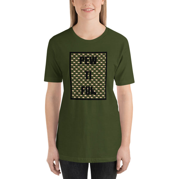 Pewtiful Steel Targets Pattern, Women's T-Shirt