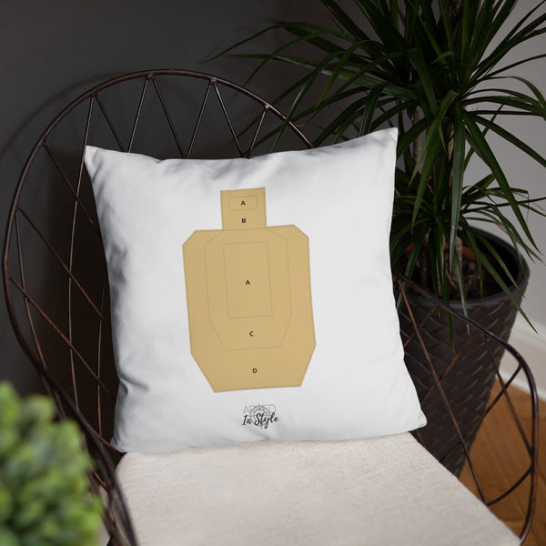 Come Home Safe Dry Fire Pillow, USPSA Style Target