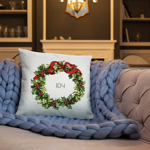 Joy Vintage Christmas Wreath Dry Fire Pillow, IDPA Style Target