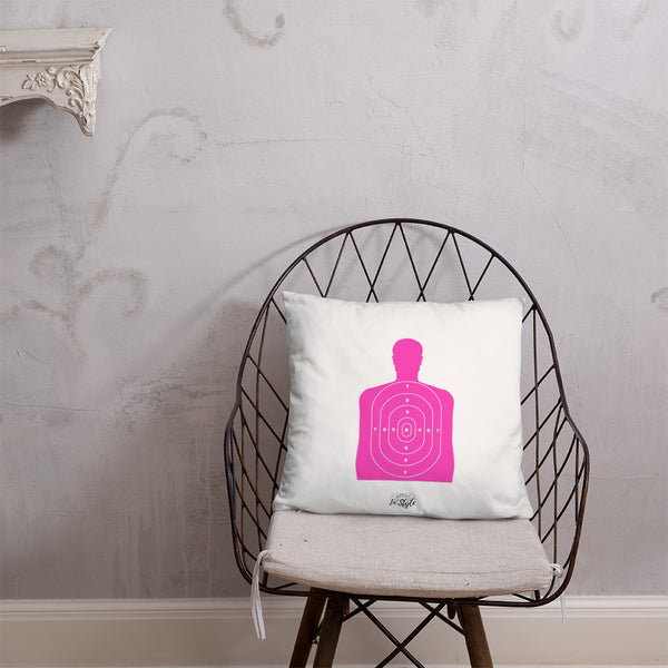 Black Floral Dry Fire Pillow, Pink Silhouette Target