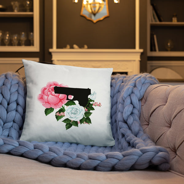 Pistol and Petals Dry Fire Pillow, Dot Drill Style Target