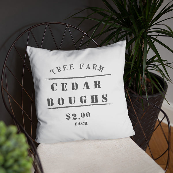 Cedar Boughs Farmhouse Dry Fire Pillow, USPSA Style Target