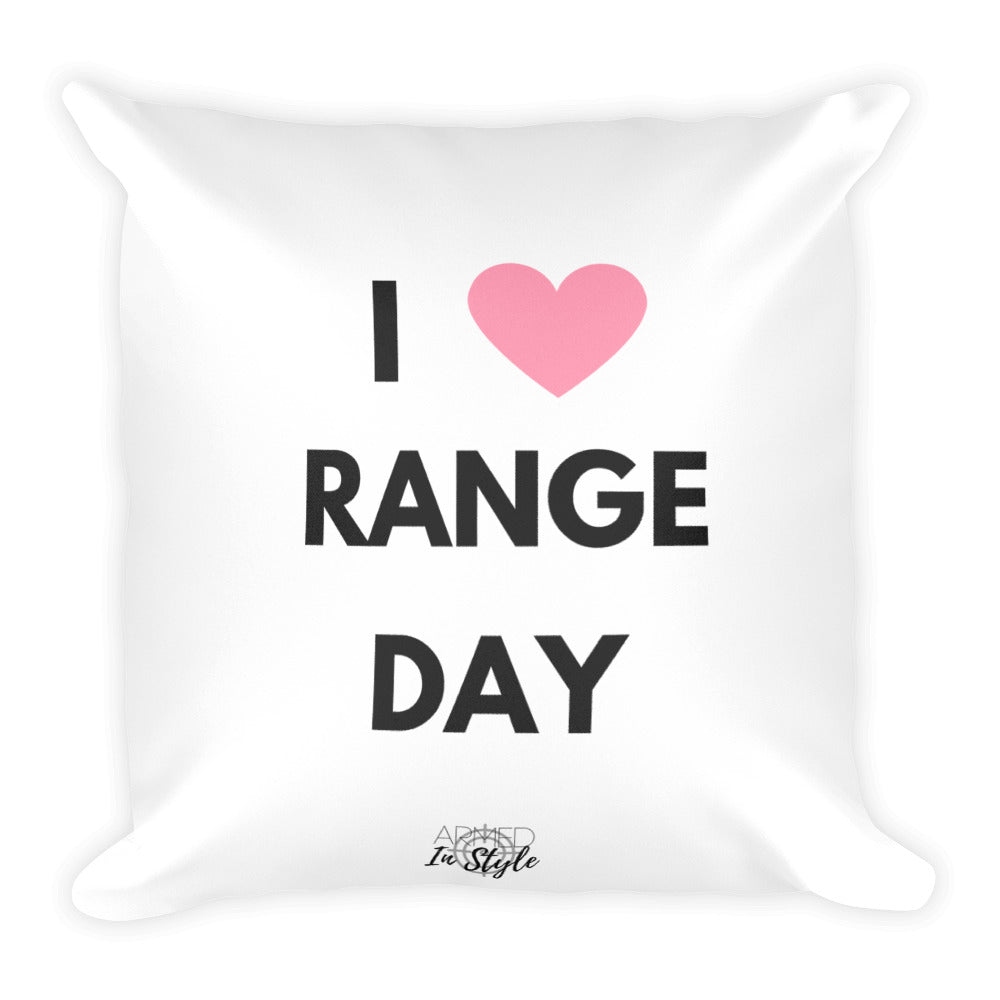 I Heart Range Day Dry Fire Pillow, IDPA Style Target