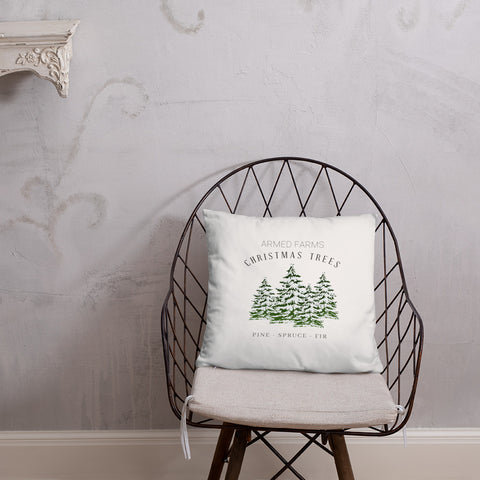 Armed Farms Christmas Trees Dry Fire Pillow