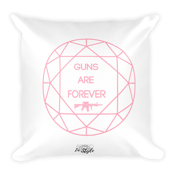Guns are Forever in Pink Dry Fire Pillow, IDPA Style Target