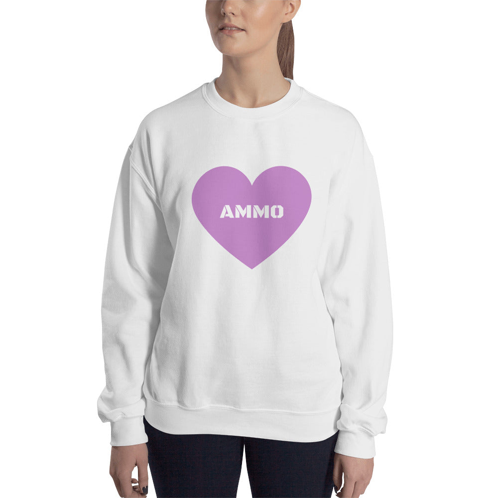 Ammo Love in Purple Sweatshirt