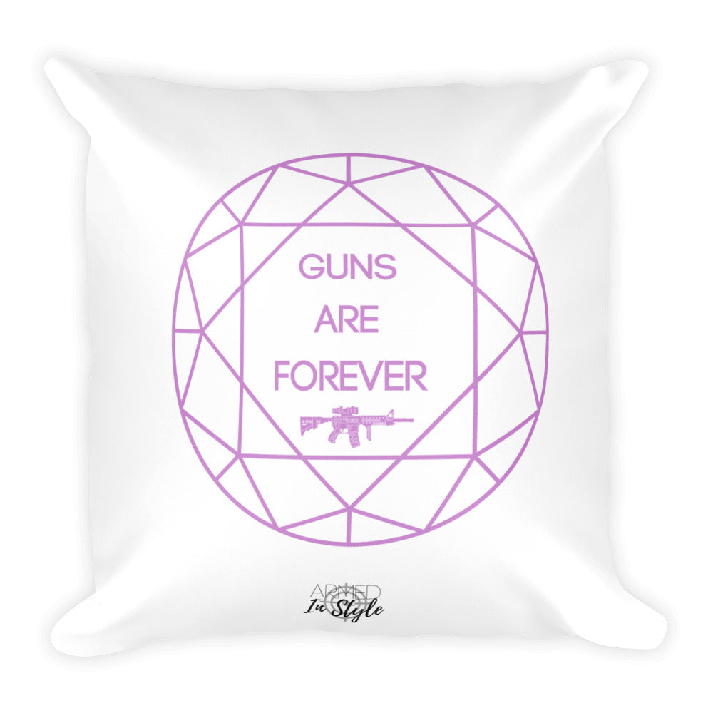 Guns are Forever in Purple Dry Fire Pillow, USPSA Style Target