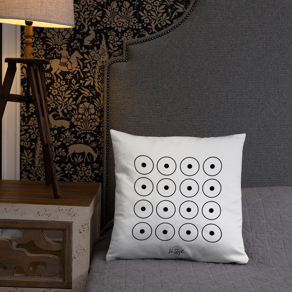 Black Floral Dry Fire Pillow, Dot Drill Style Target