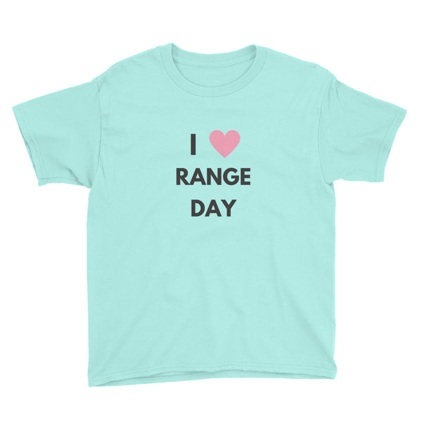 I Heart Range Day, Youth Short Sleeve T-Shirt