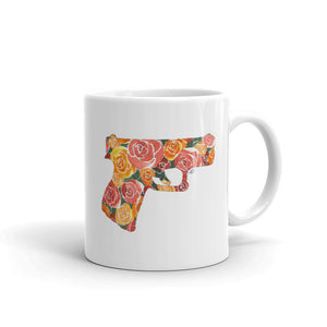 Glock and Roses by Felicha Dugan Mug