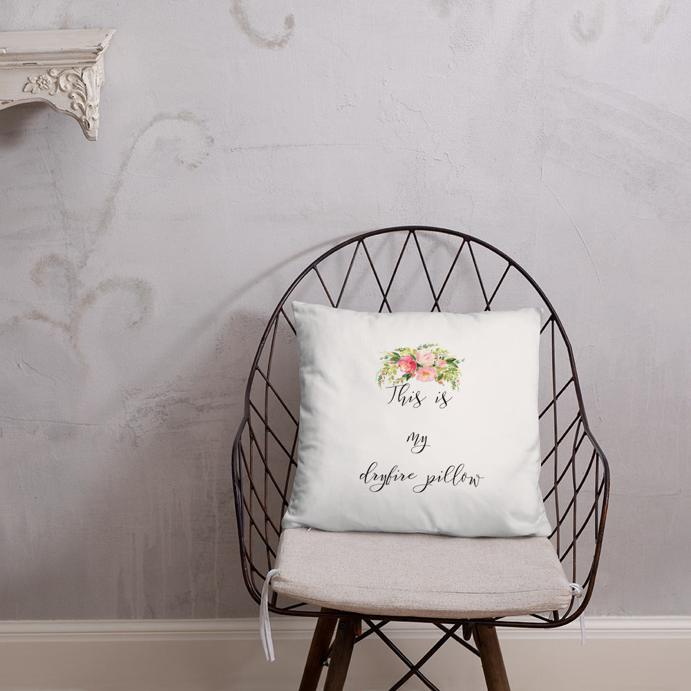Floral Dry Fire Pillow, Dot Drill Style Target