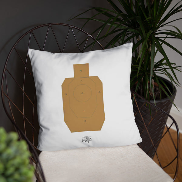 Come Home Safe Dry Fire Pillow, IDPA Style Target