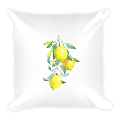 Fresh Lemons Dry Fire Pillow