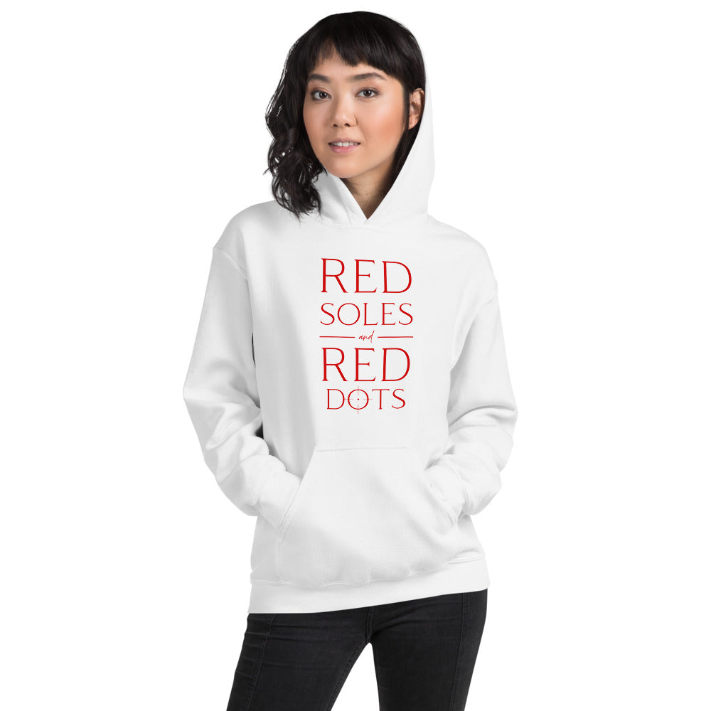Red Soles and Red Dots, Women's Hoodie