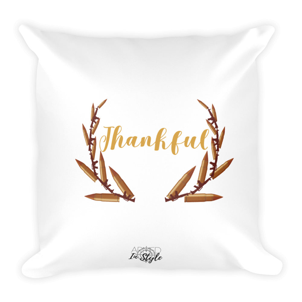 Thankful Dry Fire Pillow, Black Silhouette Target