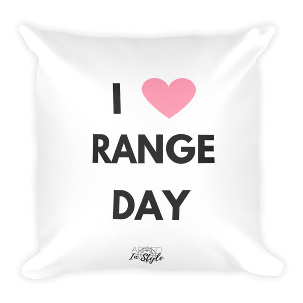 I Heart Range Day Dry Fire Pillow
