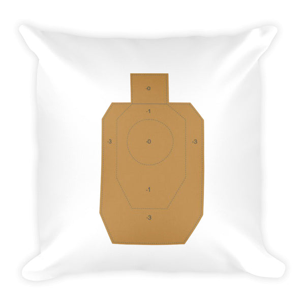 Guns are Forever in Blue Dry Fire Pillow, IDPA Style Target