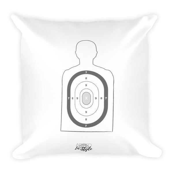 Farmhouse, Silhouette Target Dry Fire Pillow