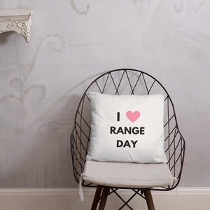 I Heart Range Day Dry Fire Pillow, Dot Drill Style Target