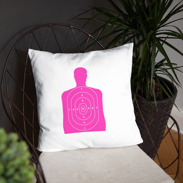 I Heart Range Day Dry Fire Pillow, Pink Silhouette Target