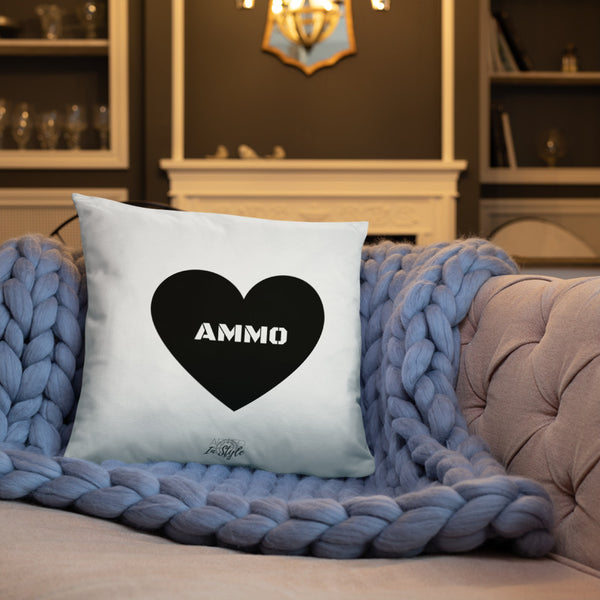 Ammo Love Dry Fire Pillow, Black Silhouette Target