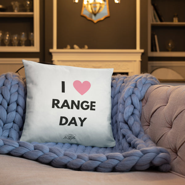 I Heart Range Day Dry Fire Pillow, Black Silhouette Target