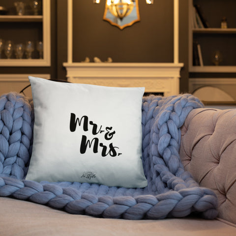Mr. & Mrs. Dry Fire Pillow, Black Silhouette Target