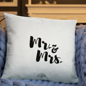 Mr. & Mrs. Dry Fire Pillow