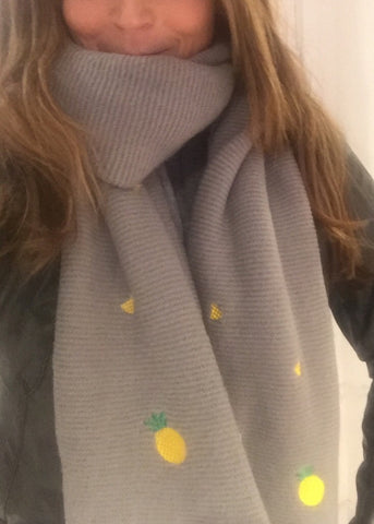 Pineapple Blanket Scarf
